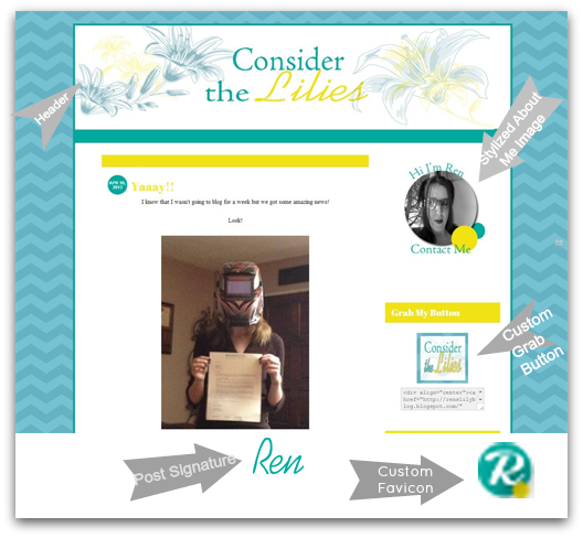 Blogger Redesign: Consider the Lilies