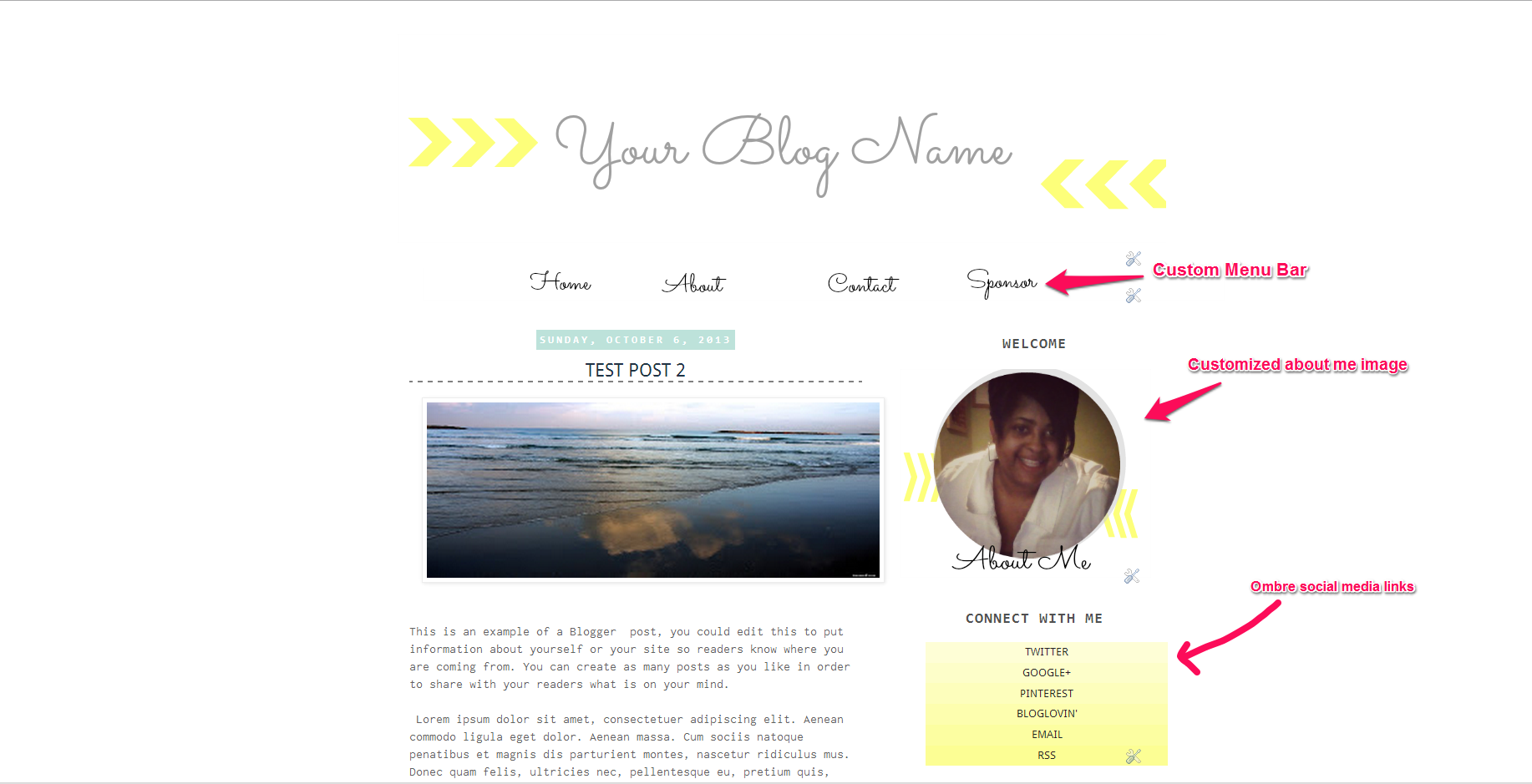 Blogger Template: Arrow