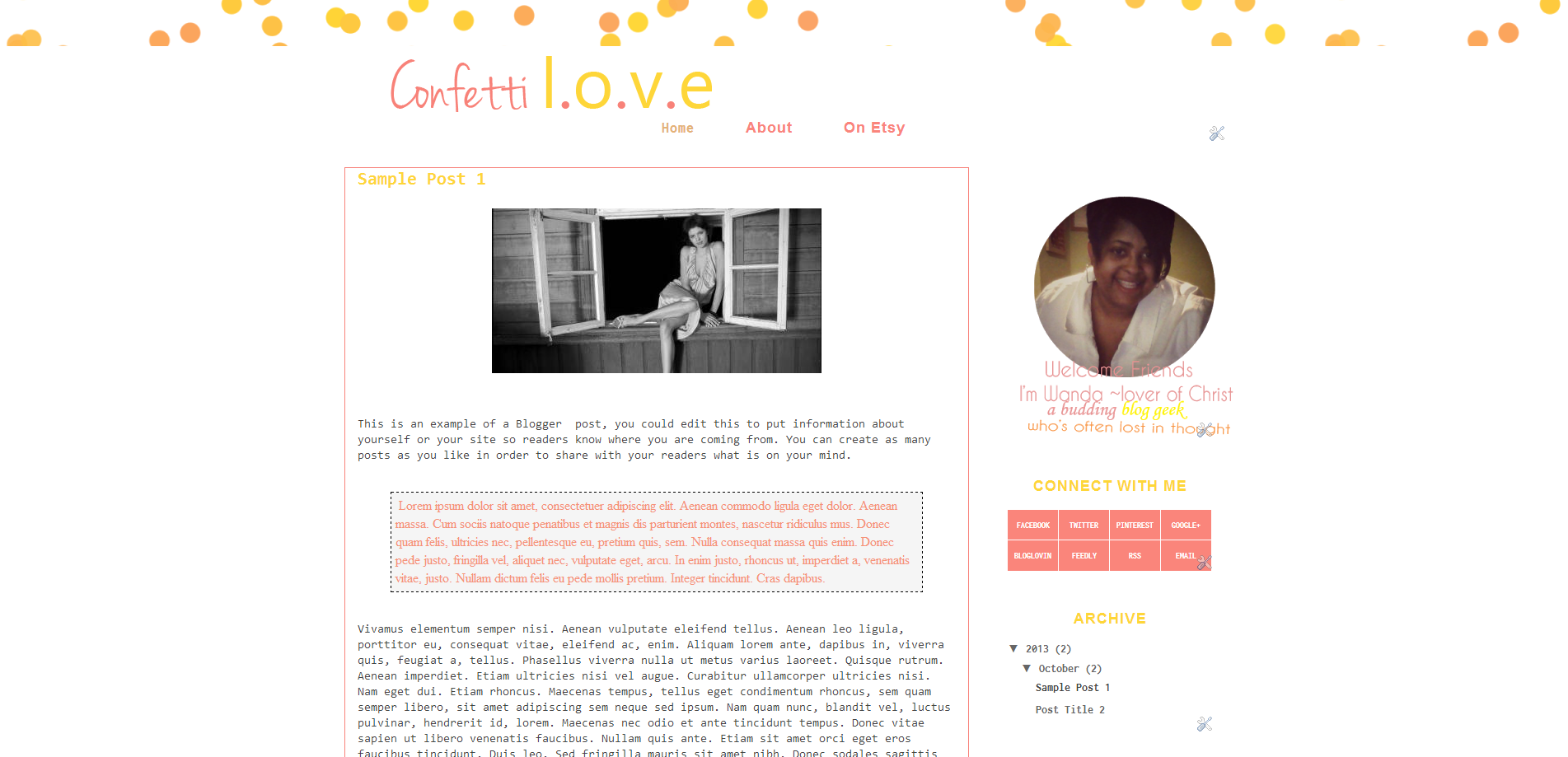 Coffetti Love Blogger Theme