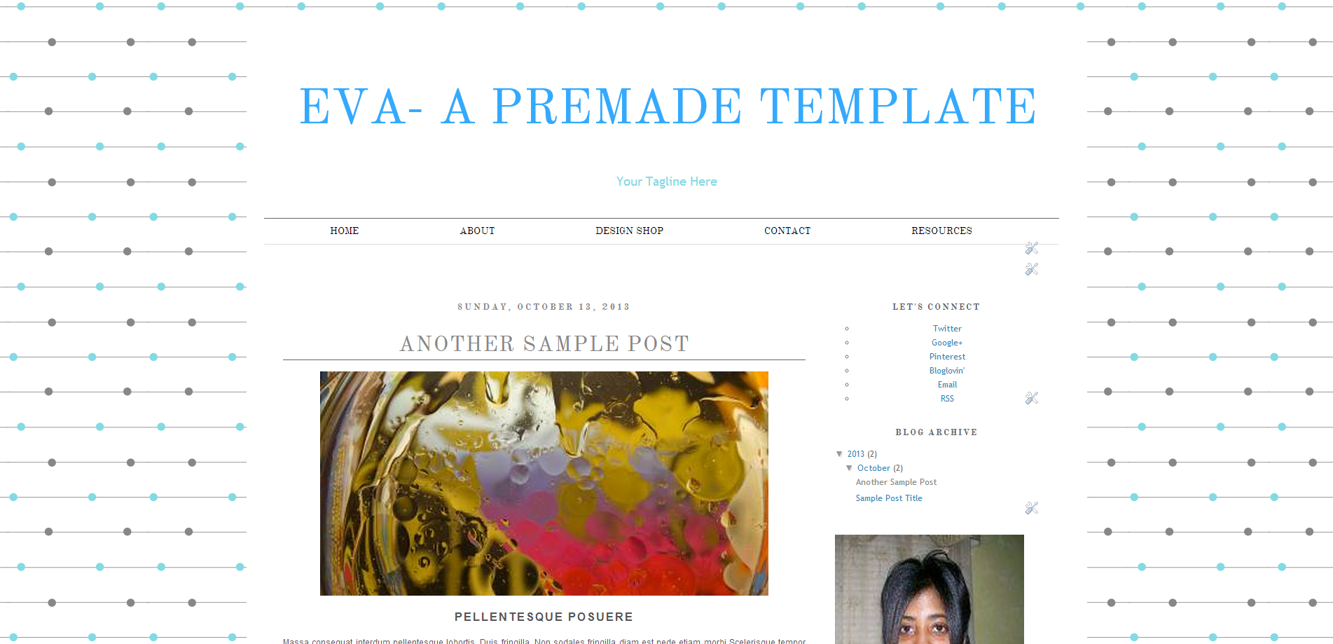 Eva: Blogger Template