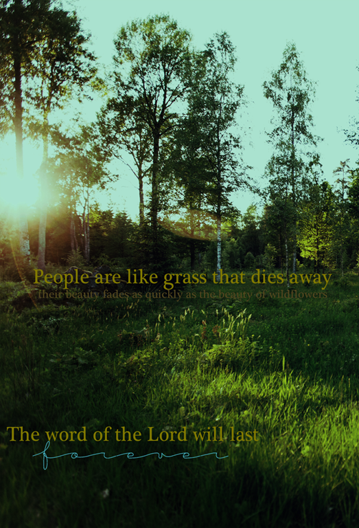 People are as grass |