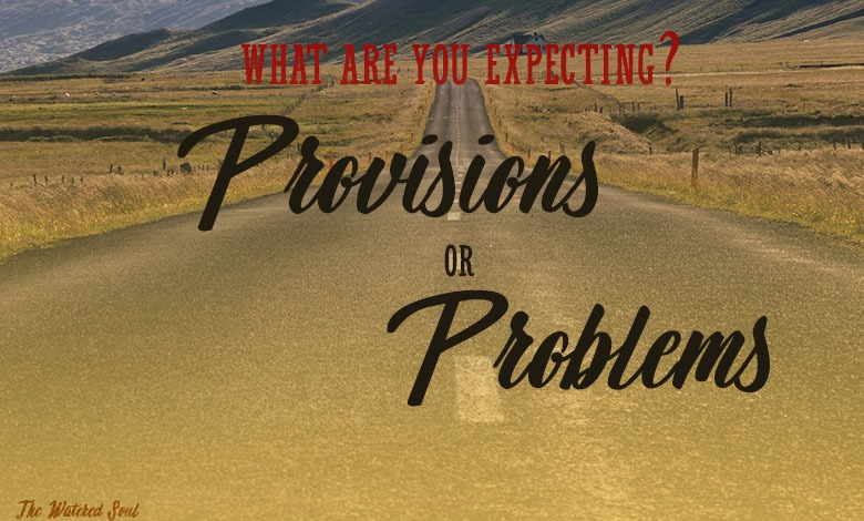 Expecting God's Provision or Problems